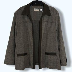 Alfred Dunner Brown Sport Coat Jacket Sz 24W